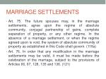marriage settlements
