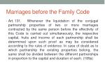 marriages before the family code1