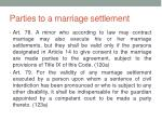 parties to a marriage settlement