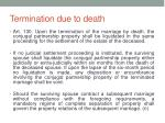 termination due to death