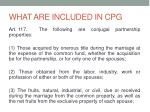 what are included in cpg