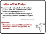 letter to w w phelps