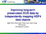 improving long term preservation eos data by independently mapping hdf4 data objects