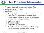 task e implement demo reader