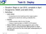 task g deploy