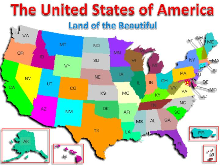 united states of america land of the The huge expanse of american land and the vast number of climates across the  country allowed the us to grow a more diverse set of crops.