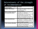 determinants of the strength of recommendation1