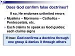 does god confirm false doctrines
