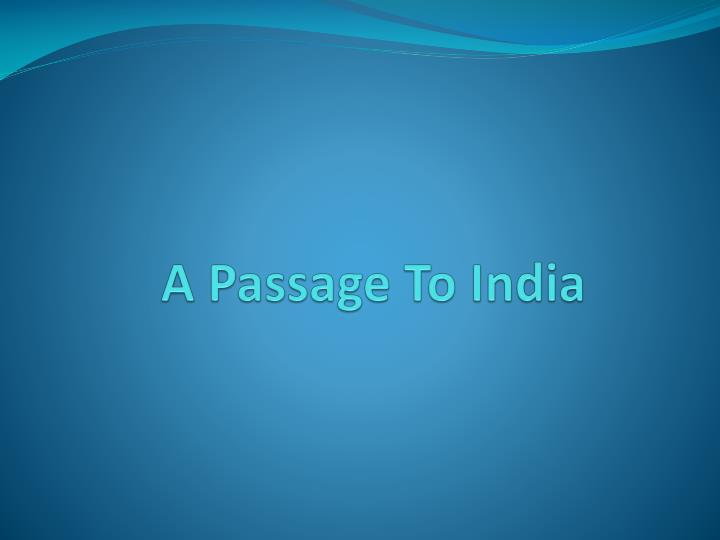 a passage to india n.