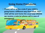 going home procedures
