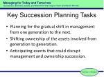 key succession planning tasks
