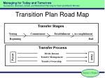 transition plan road map