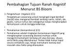 pembahagian tujuan ranah kognitif menurut bs bloom