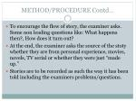 method procedure contd1