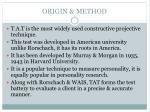 origin method