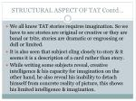 structural aspect of tat contd