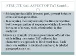 structural aspect of tat contd2