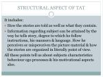structural aspect of tat