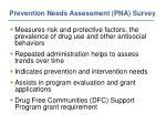 prevention needs assessment pna survey