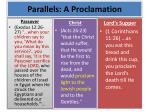 parallels a proclamation