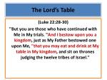 the lord s table1