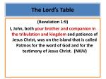 the lord s table3