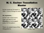 m c escher tessellation master