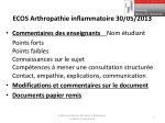 ecos arthropathie inflammatoire 30 05 2013