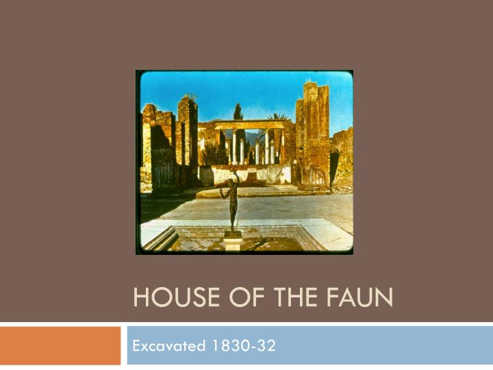 house of the faun n.