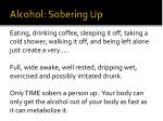 alcohol sobering up