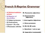 french ii reprise grammar