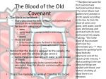 the blood of the old covenant