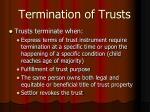 termination of trusts