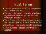 trust terms