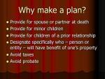 why make a plan