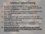 streetcar speed dating