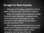 struggle for black equality