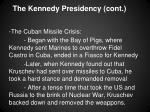 the kennedy presidency cont1