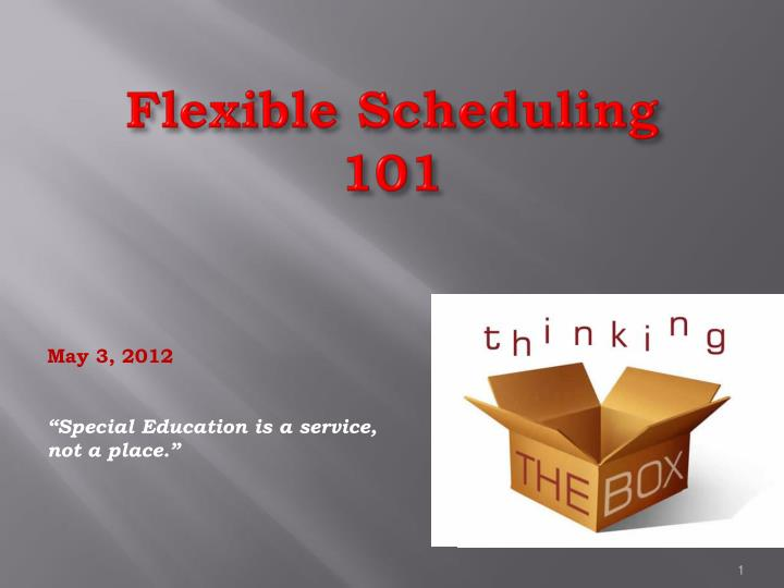 flexible scheduling 101 n.