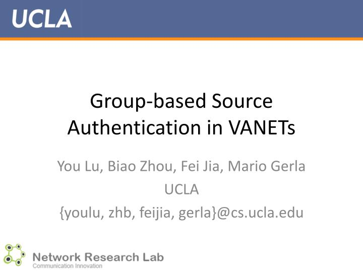 group based source authentication in vanets n.