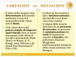 cartalisti vs metallisti