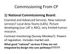 commissioning from cp