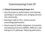 commissioning from cp1