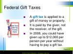 federal gift taxes