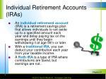 individual retirement accounts iras