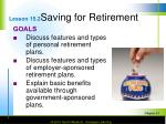 lesson 15 2 saving for retirement
