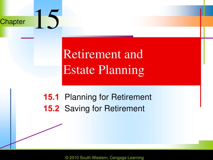retirement and estate planning n.