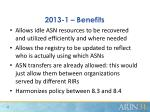 2013 1 benefits