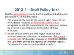 2013 1 draft policy text