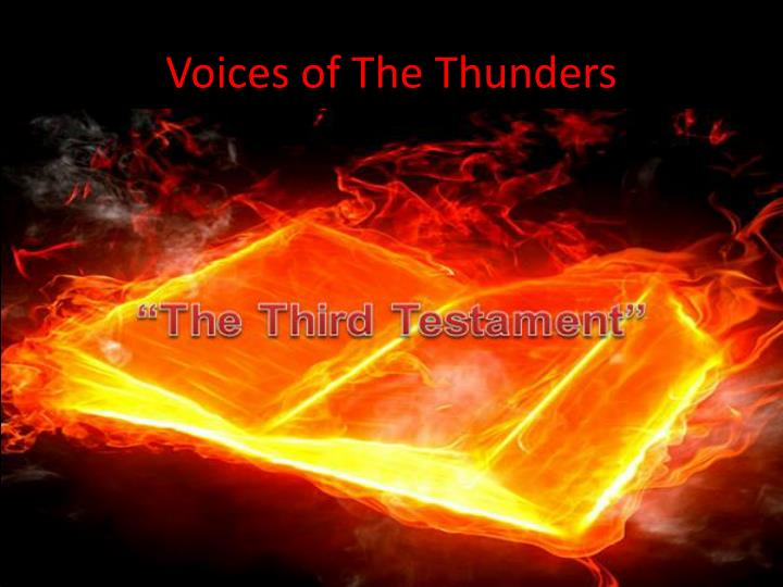 voices of the thunders n.